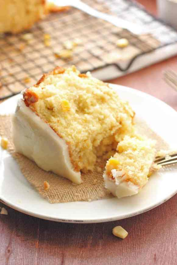 Sweet Corn and Hot Butter Glaze Cake