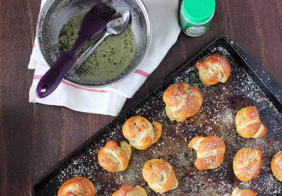 Pretzel Parmesan Garlic Knots