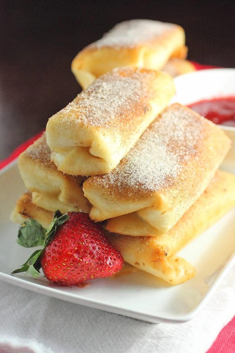 Fried cheesecake bites recipes