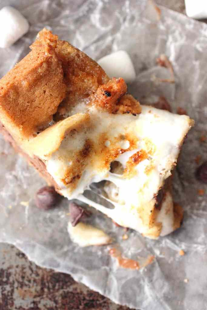 Chocolate Chip S'more Cookie Bars