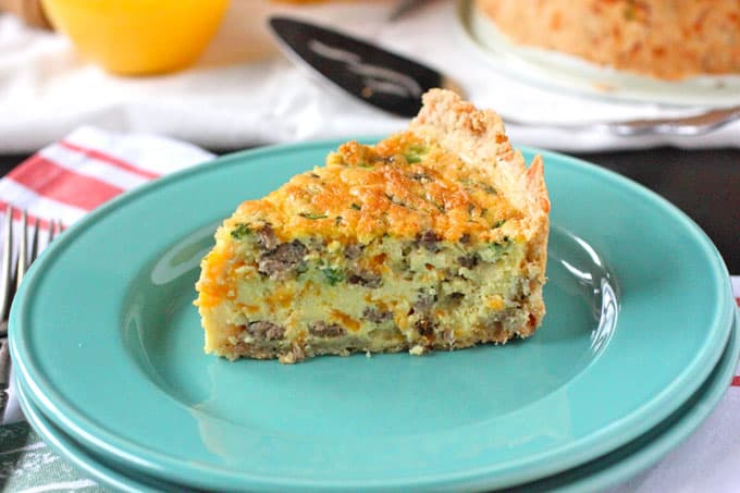 Easy Breakfast Sausage and Cheddar Quiche