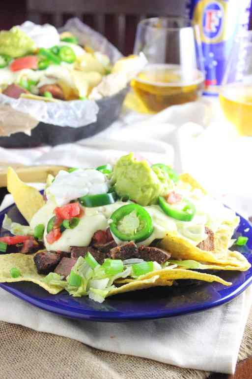 Steak and Beer Cheese Tailgate Nacho Recipe