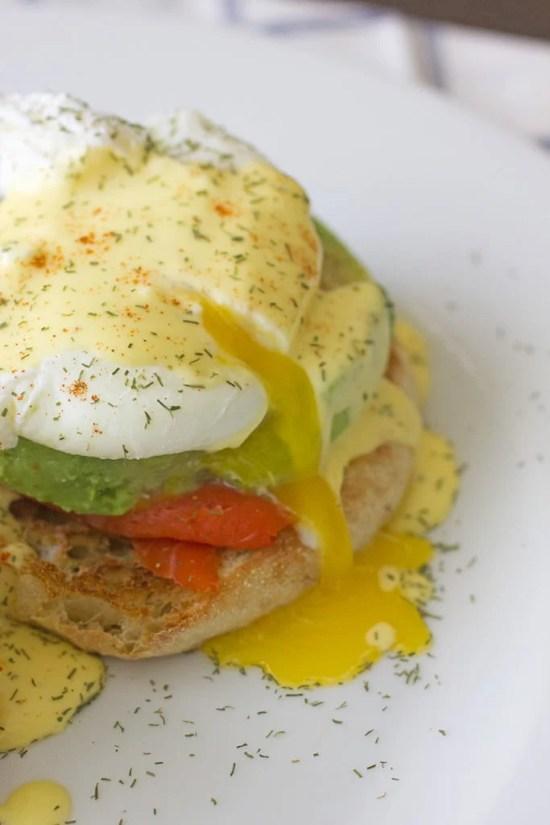 Salmon & Avocado Egg Benedict Recipe
