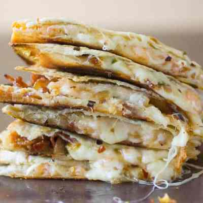 Easy Quesadilla Recipe with Shrimp and Bacon