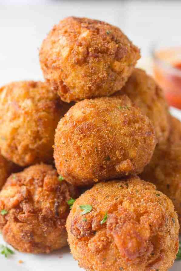 Mozzarella Stuffed Tater Tot Balls