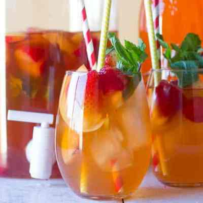 Peach Ice Tea with Peach Alize Vodka