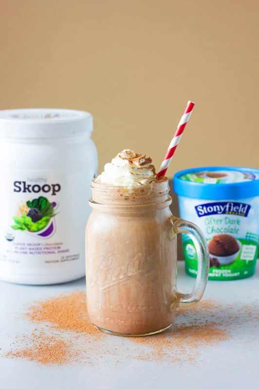 Healthy Chocolate Milkshake & healthy Skoop