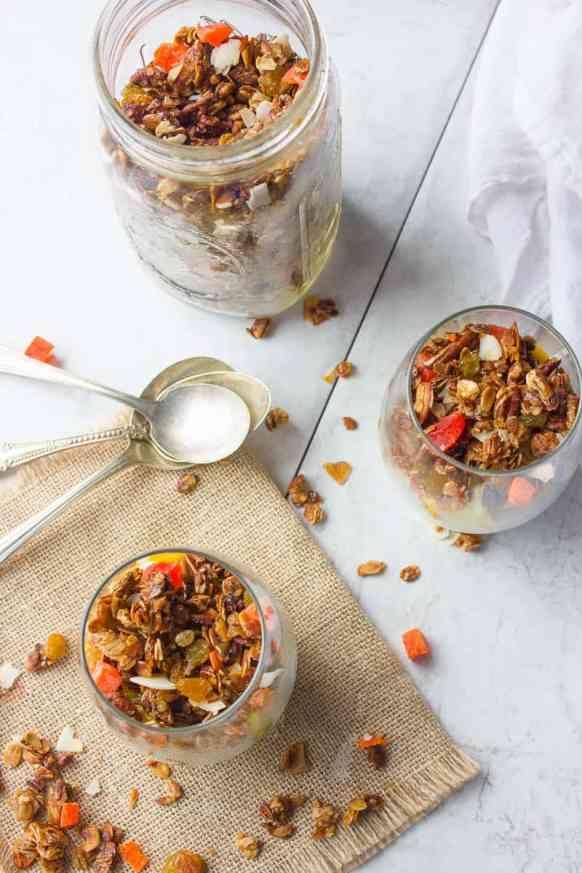 Homemade Granola & Tropical Fruit Parfait