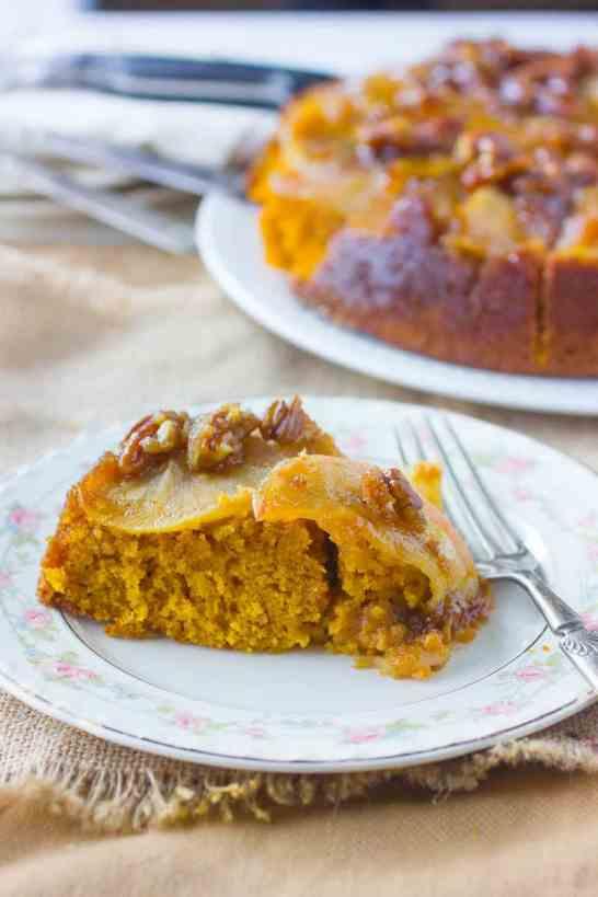 Caramel Apple Pumpkin Cake Recipe