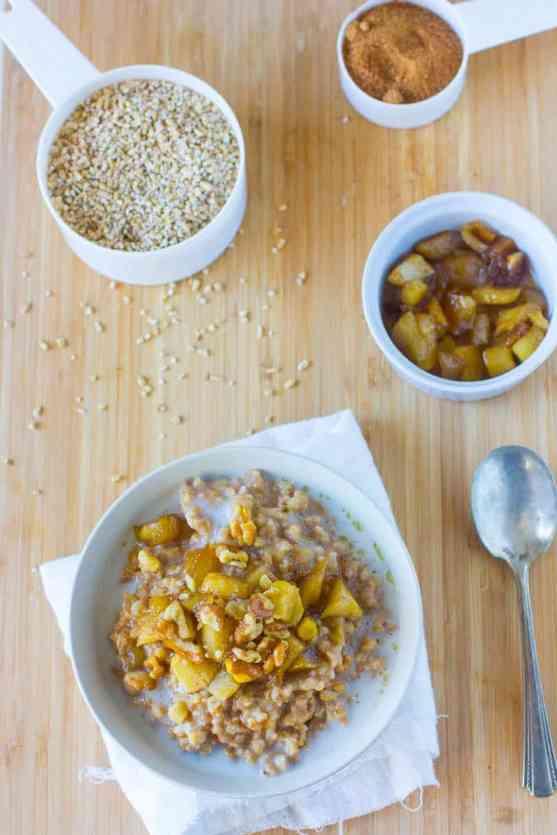 Apple Pie Slow Cooker Steel Cut Oatmeal Recipe