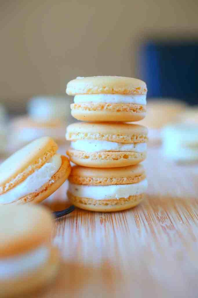 Vanilla Bean Macarons