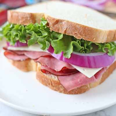 Classic Roast Beef Sandwich with Swiss Cheese