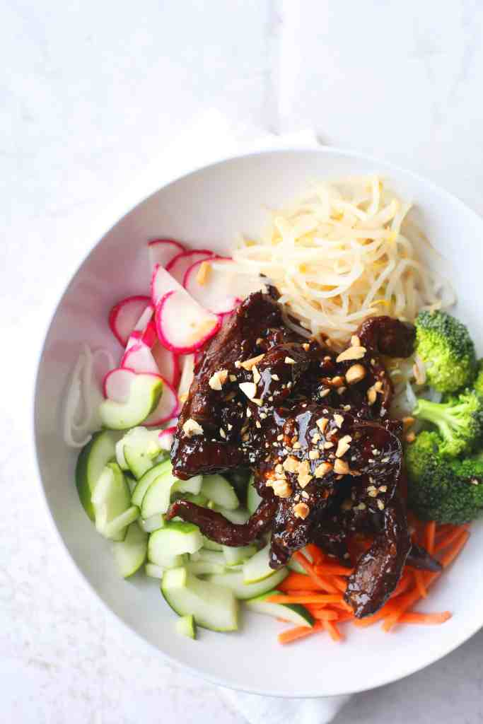 Asian Beef Vegetable Bowls
