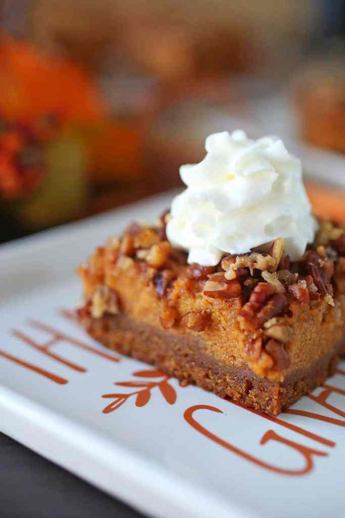 Pecan Pumpkin Pie Bars