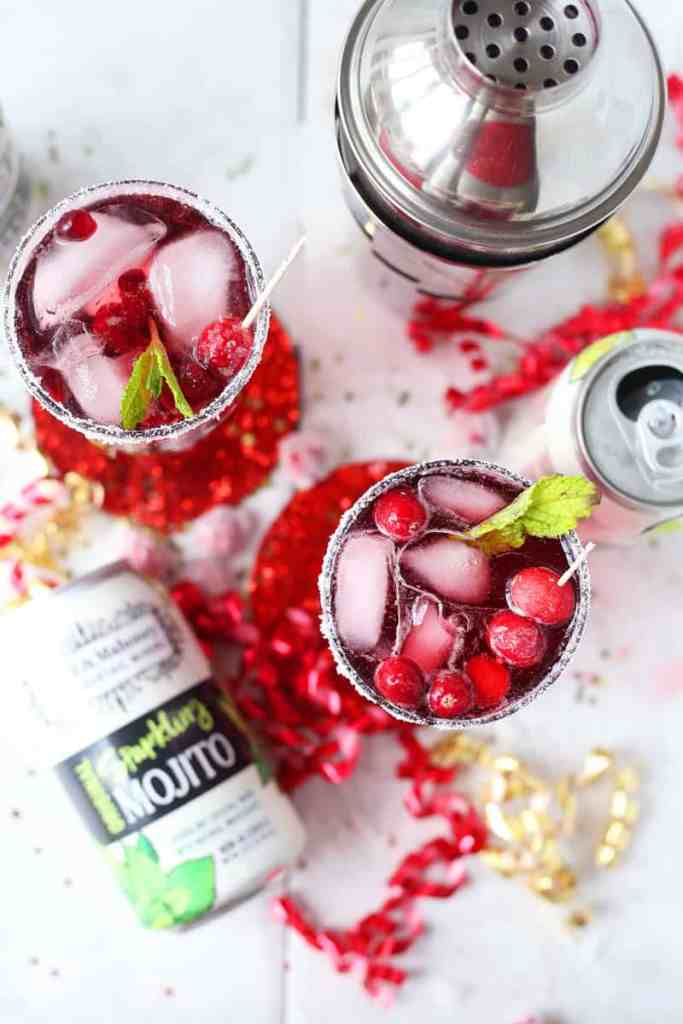 Cranberry Pomegranate Mojito