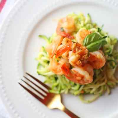 Easy Shrimp Scampi with Zucchini Noodles