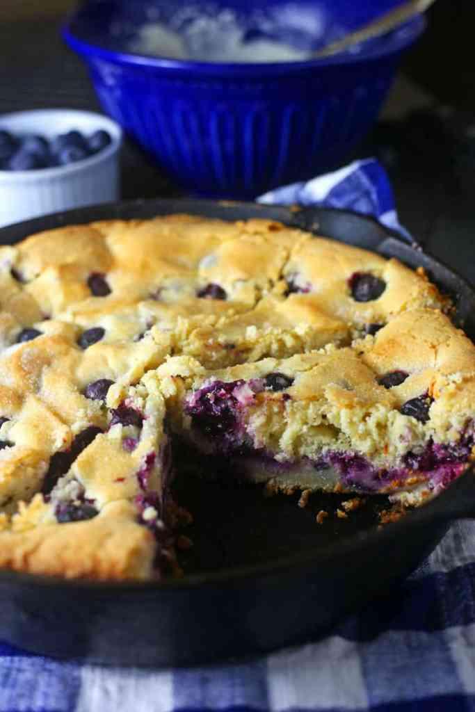 Blueberry Skillet Cake Recipe