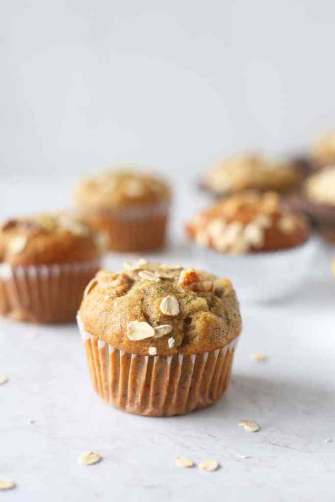 Banana and Zucchini Muffins recipe