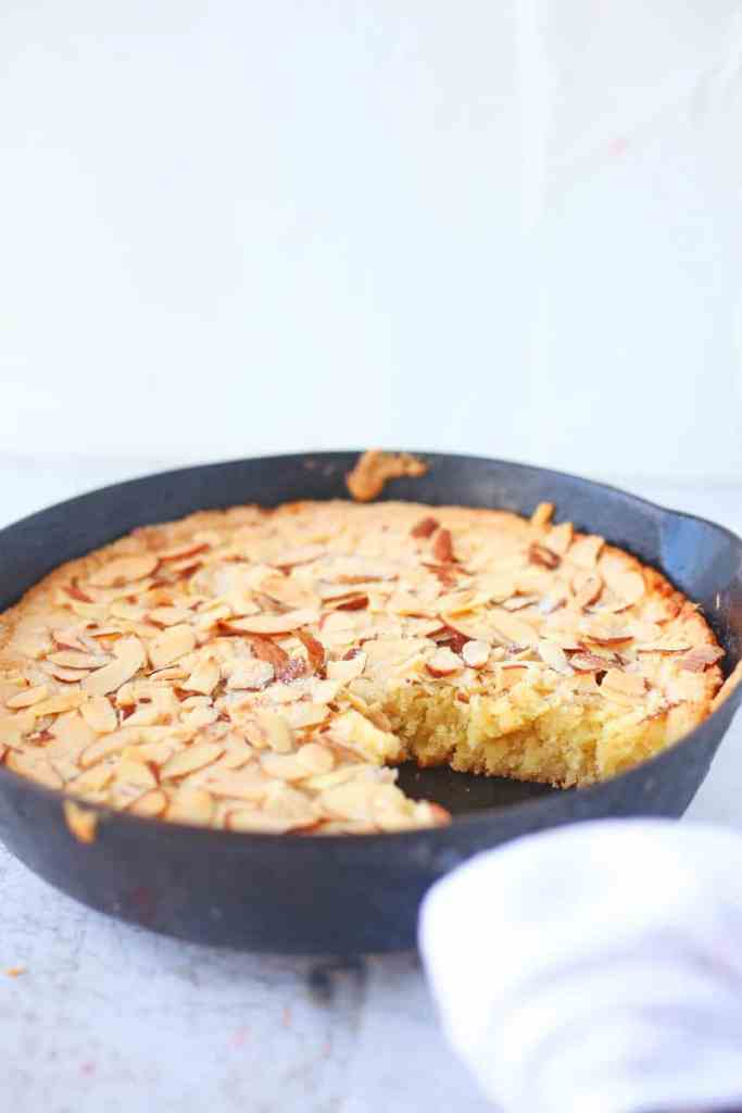 Skillet Almond Shortbread Recipe
