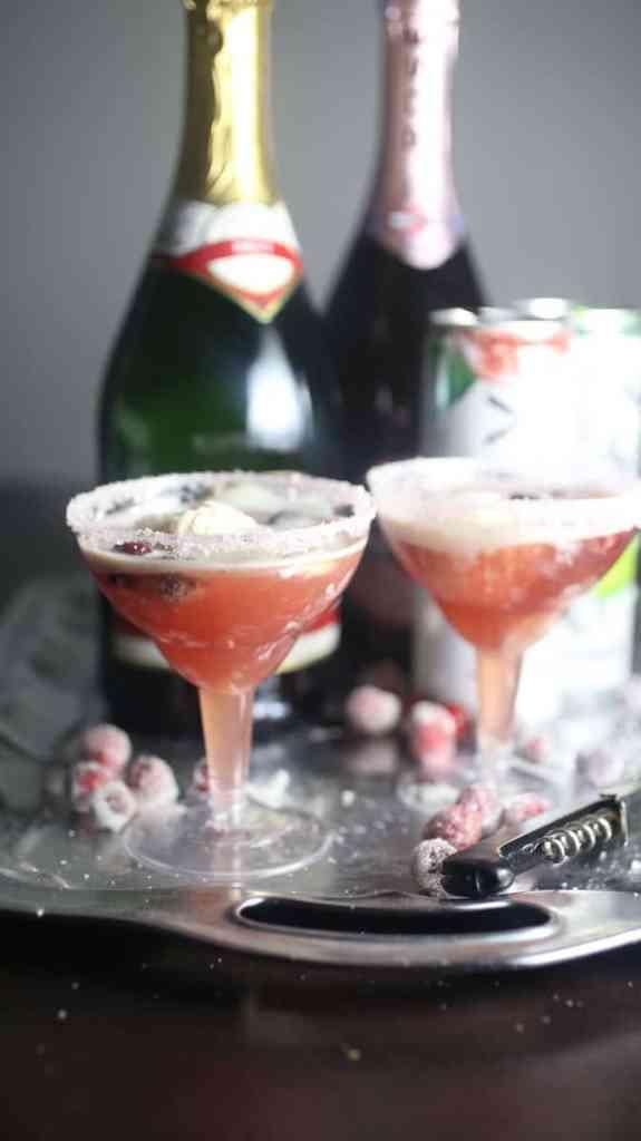 Boozy Cranberry Ice Cream Float