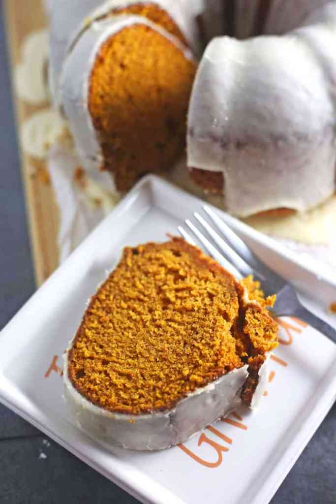 Moist Pumpkin Cake Recipe with Brown Butter Glaze