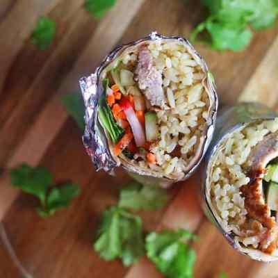 Simple Pork Banh Mi Burritos