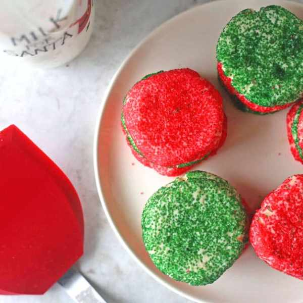 a plate of Christmas Butter Cookies