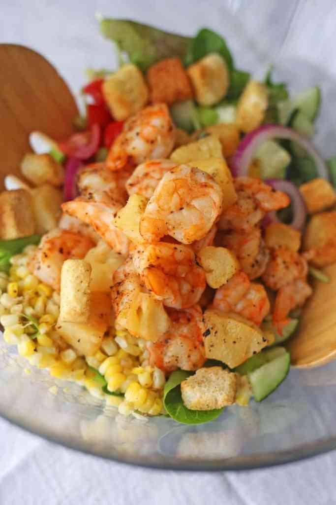Grilled Shrimp Salad with Honey Mustard Dressing