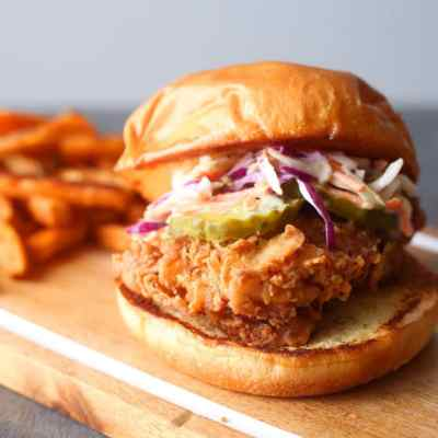 Spicy Buttermilk Fried Chicken Sandwich