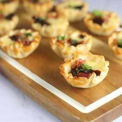 Fig and Bacon Baked Brie Bites