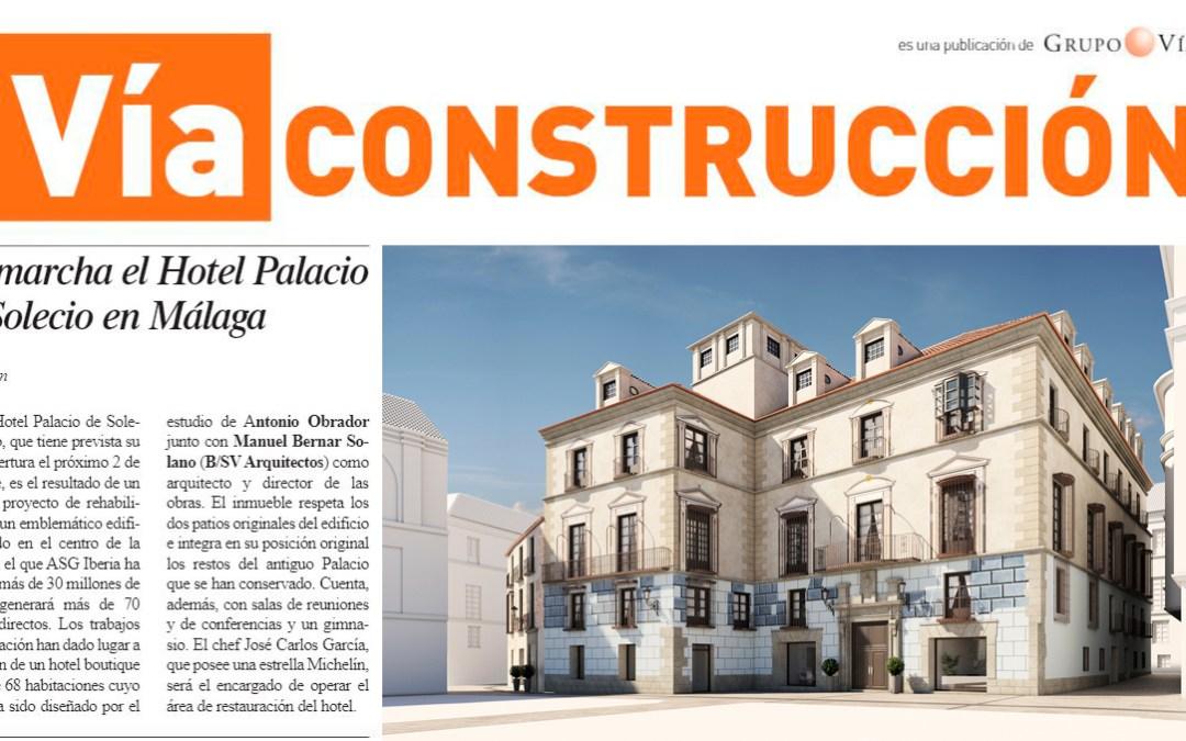 El proyecto del Hotel Solecio, rehabilitado por B/SV Arquitectos, en la revista Via Construcción