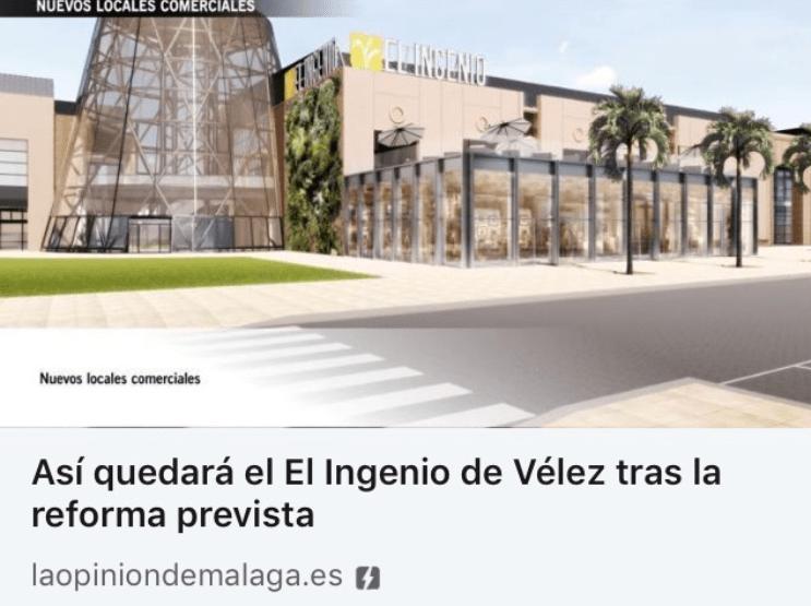 La Opinión de Málaga muestra cómo quedará el C.C. El Ingenio tras la reforma de B/SV Arquitectos