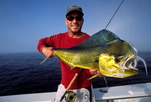 Jeff Solis with a bull dorado