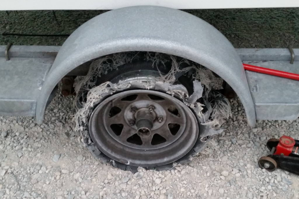 Old tires can self-destruct!