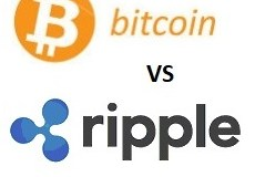 Bitcoin vs ripple koersgrafiek