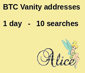 Vanity address search engine
