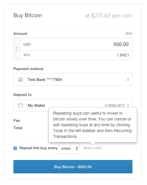 Easier Recurring Buys and Sells on Coinbase