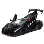 Jada 32261 Hyper Spec Lamborghini Veneno 1 24 S W A T Matte Black Bt Diecast