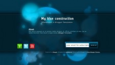 My blue construction