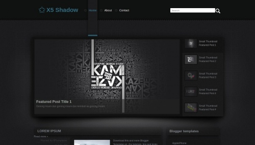 Download X5 Shadow template for blogger[best template] - ahir4you