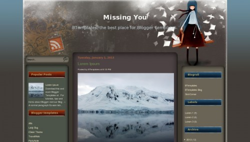 Missing you blogger template btemplates for Wordpress theme template is missing