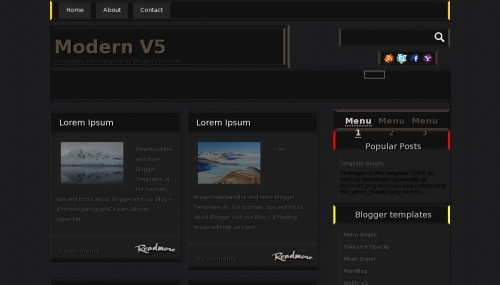 Download modern V5 template for blogger[best template] - ahir4you