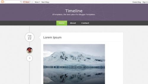 Timeline Blogger Template BTemplates - Timeline blogger template