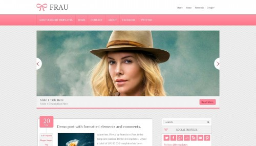 Frau blogger template btemplates live demo pronofoot35fo Choice Image
