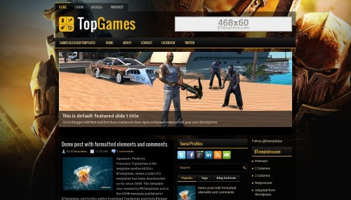 TopGames- A wordpress template