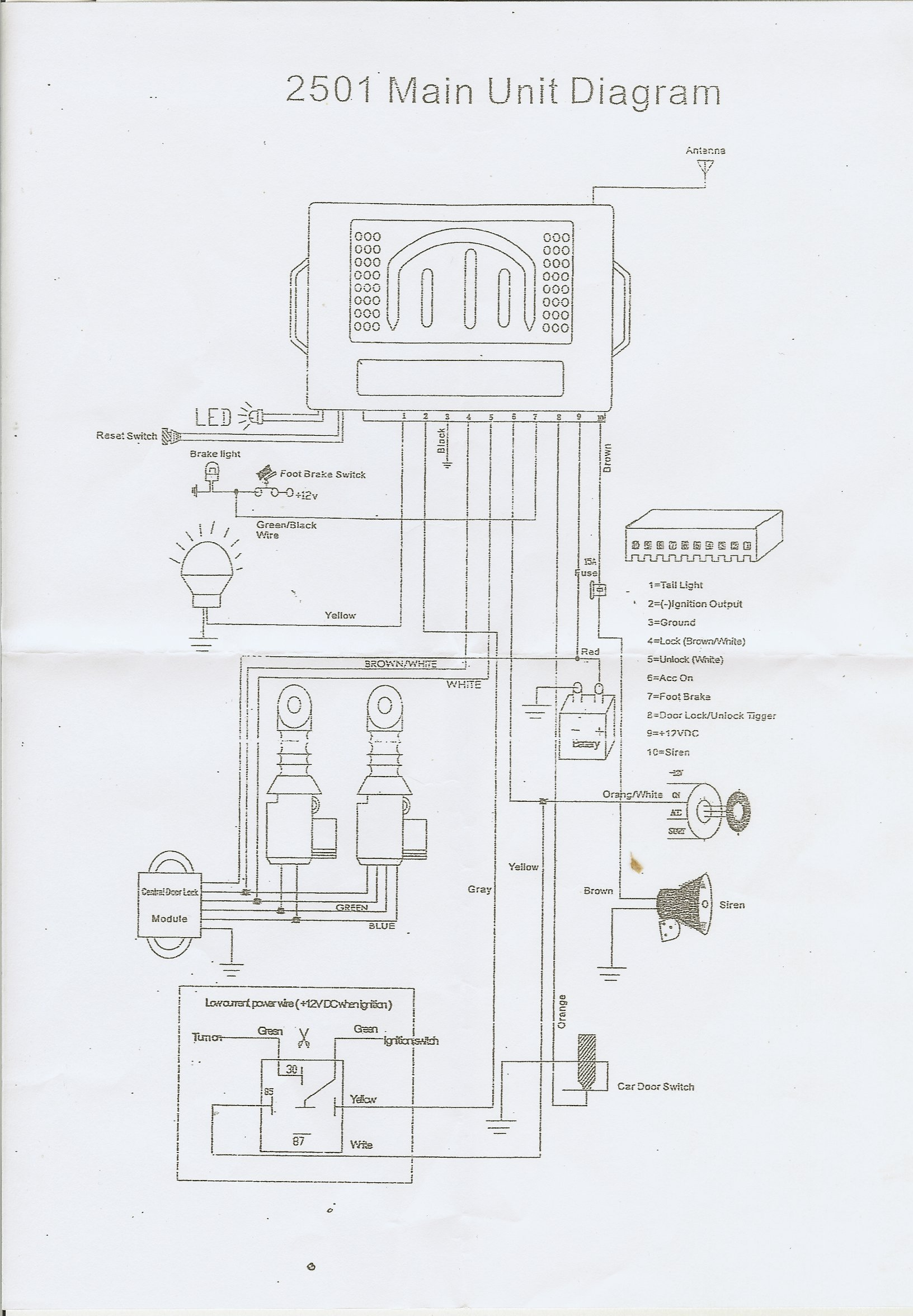 Car Central Locking Wiring Diagram