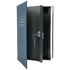 Stalwart Diversion Dictionary Book Safe with Key Lock Metal 6 x 9 in 2