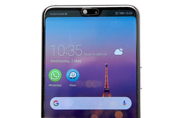 If you dont like the notch on the P20 Pro, you can opt to hide it. — YAP CHEE HONG/The Star