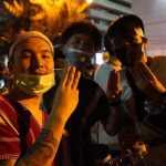 Voices in a Bangkok rally a day after police used water cannon and tear gas against protesters