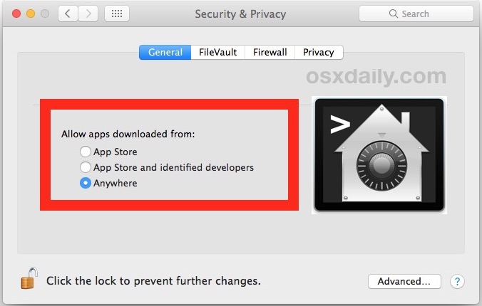 Как разрешить приложения из любого места в macOS Gatekeeper (Catalina, Mojave, Sierra, High Sierra)